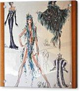 Bob Mackie Design Acrylic Print