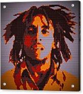 Bob Marley Lego Pop Art Digital Painting Acrylic Print