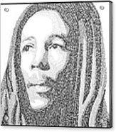 Bob Marley Painting Acrylic Print