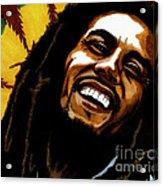 Bob Marley Rastafarian Acrylic Print