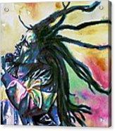 Bob Marley Singing Portrait.1 Acrylic Print