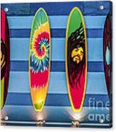 Bob Marley Surfing Display Acrylic Print