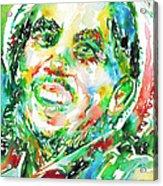 Bob Marley Watercolor Portrait.2 Acrylic Print