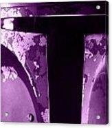 Boba Fett Helmet 105 Acrylic Print