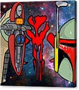 Boba Fett Icons Acrylic Print by Gary Niles