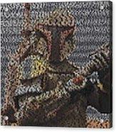 Boba Fett Quotes Mosaic Acrylic Print
