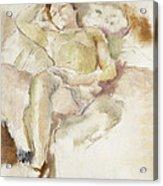 Bobette Lying Down Bobette Allongee Acrylic Print