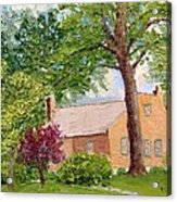 Bockrath-weise House Impressionistic Oil Painting Acrylic Print