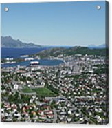 Bodø Airial View, North Norway Acrylic Print