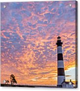 Bodie Island Lighthouse At Sunrise Vetical Acrylic Print