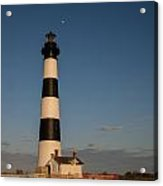 Bodie Island Lighthouse Moon Acrylic Print