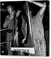 Body Talk Poster Prize Jello Wrestling Contest Gay Bar Tucson Arizona July 4th 1992 Acrylic Print