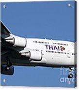 Boeing 747-400 Of Thai International Acrylic Print