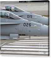 Boeing Fa-18 Hornets Of The Swiss Air Acrylic Print