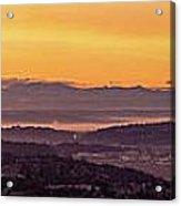 Boeing Seatac And Rainier Sunrise Acrylic Print