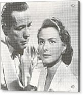 Bogart And Bergman Acrylic Print