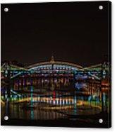 Bogdan Khmelnitsky Bridge Over The Moscow River - Featured 3 Acrylic Print