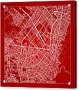 Bogota Street Map - Bogota Colombia Road Map Art On Color Acrylic Print