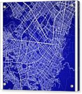 Bogota Street Map - Bogota Colombia Road Map Art On Colored Back Acrylic Print