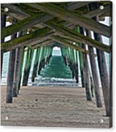 Bogue Banks Fishing Pier Acrylic Print