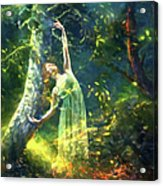 Bohemian Dancer Fantasy Acrylic Print