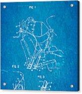 Bohlin Seatbelt Patent Art 1962 Blueprint Acrylic Print by Ian Monk