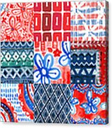 Boho Americana- Patchwork Painting Acrylic Print