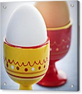 Boiled Eggs In Cups Acrylic Print by Elena Elisseeva