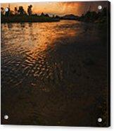 Boise River Dramatic Sunset Acrylic Print