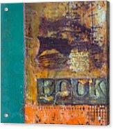 Book Cover Encaustic Acrylic Print