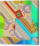Bold Geometric Abstract  Acrylic Print
