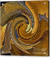 Bold Golden Abstract Acrylic Print