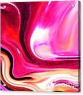 Bold Pink Abstract Acrylic Print