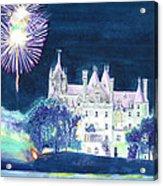 Boldt Castle Fireworks Acrylic Print