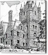 Boldt Castle With Seagull Acrylic Print