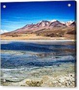 Bolivia Desert Lake Framed Acrylic Print