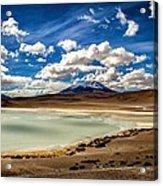 Bolivia Lagoon Clouds Framed Acrylic Print