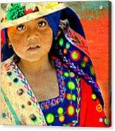 Bolivian Child Acrylic Print
