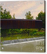 Bollinger Cover Bridge Acrylic Print