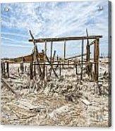 Bombay Beach Ruins Acrylic Print