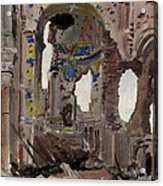 Bombed Out Interior Of Albert Church Acrylic Print by Ernest Proctor
