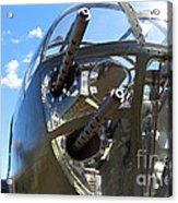 Bomber's Cockpit Acrylic Print