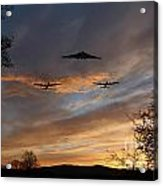 Bombers Pass By  Acrylic Print