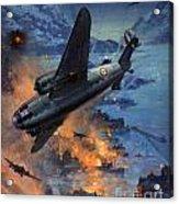 Bombing Scene Artist C E Turner  Acrylic Print