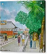 Bonaire Street Acrylic Print