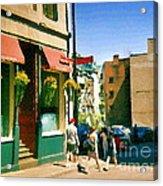 Bonaparte 4 Star Classic French Resto Vieux Montreal Paris Style Bistro Paintings Carole Spandau Art Acrylic Print