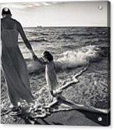 Bonding In The Surf Acrylic Print