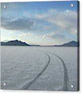 Bonneville Salt Flats, Salt Lake City Acrylic Print