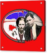 Bonnie And Clyde Close-up Detail Of Larger Image C. 1933-2013 Acrylic Print