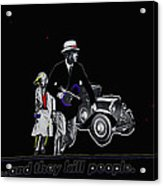 Bonnie And Clyde Poster 1967 Death Valley California 1968-2009 Acrylic Print